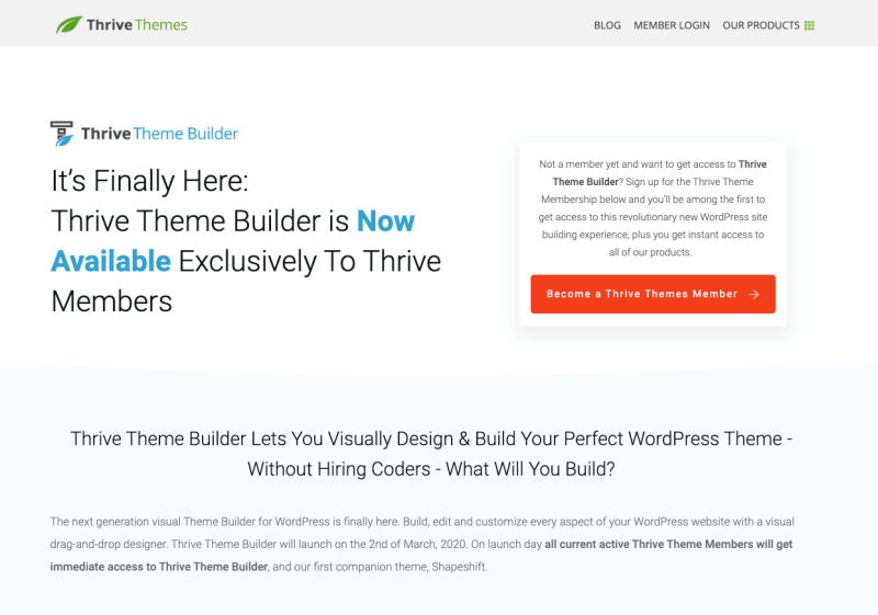 Thrive Theme Builder Review 2020