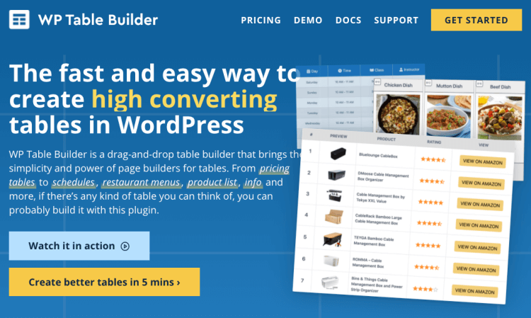 WP Table Builder Review
